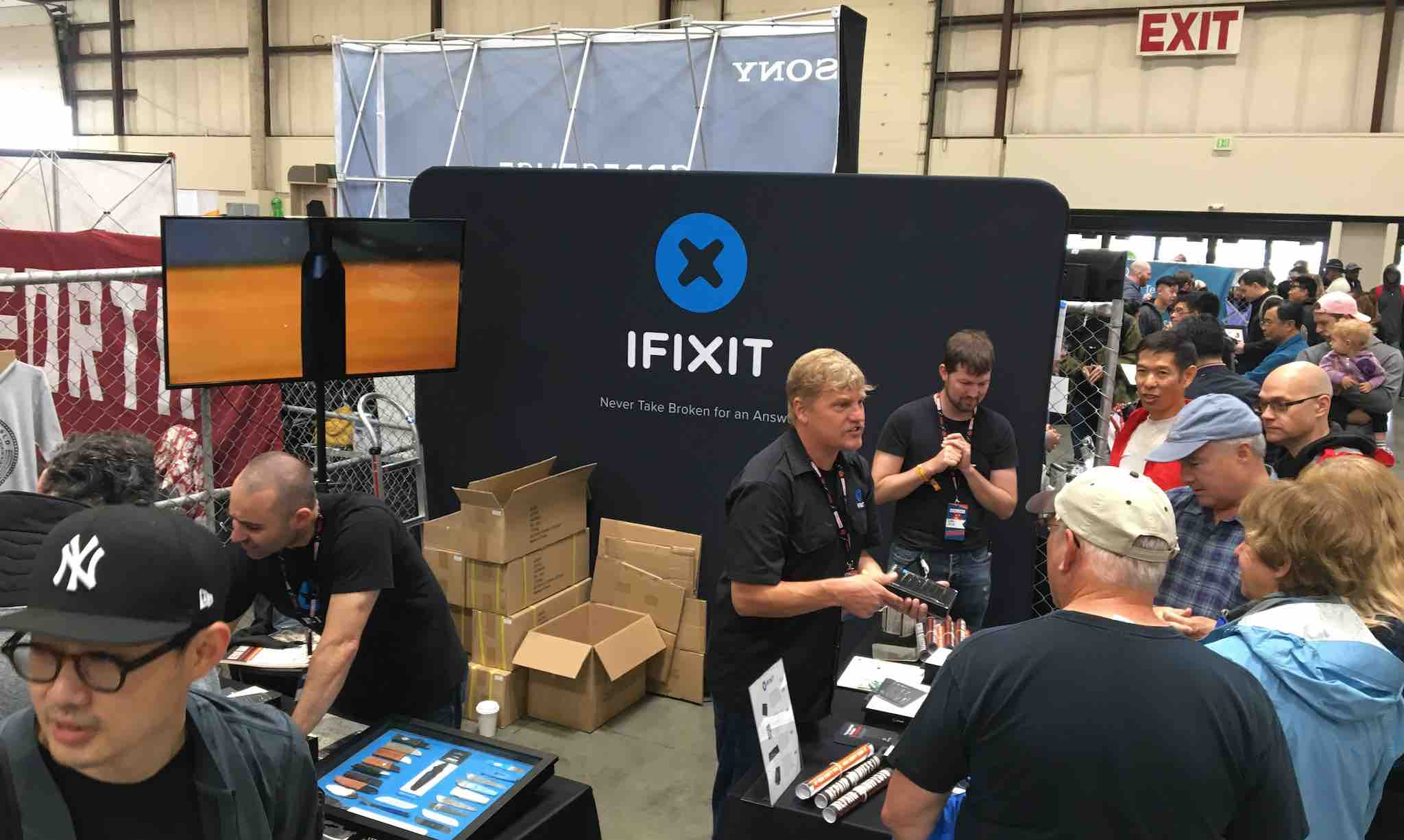 iFixit's booth at Bay Area Maker Faire 2019.