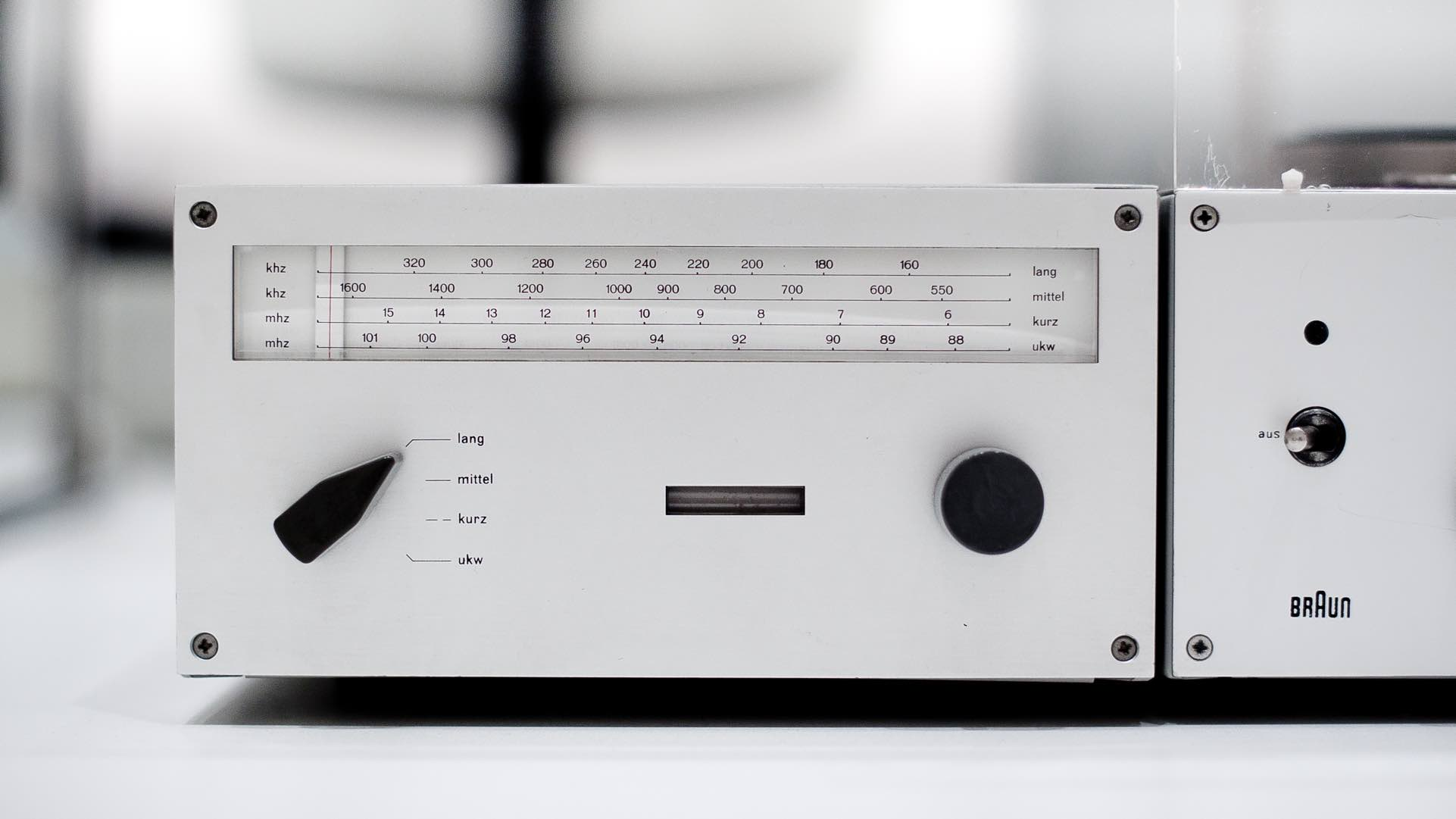 Braun radio designed by Dieter Rams.