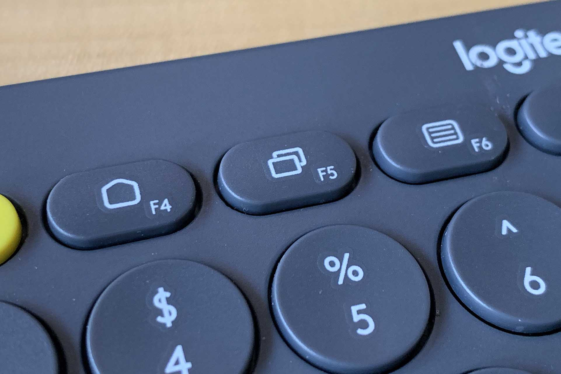 Function keys on a Logitech keyboard