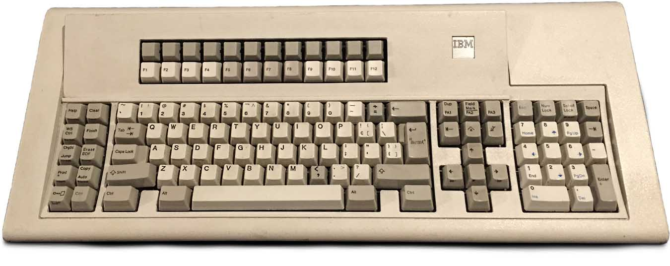 IBM Model F keyboard with 24 function keys
