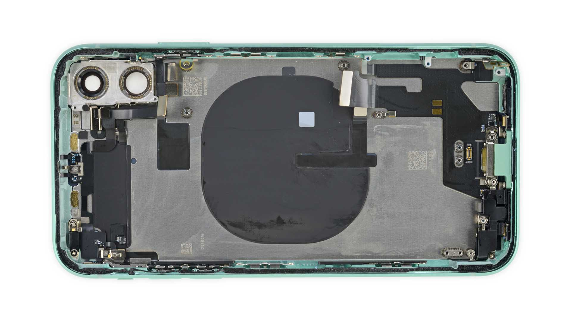 The empty back case of an iPhone 11.