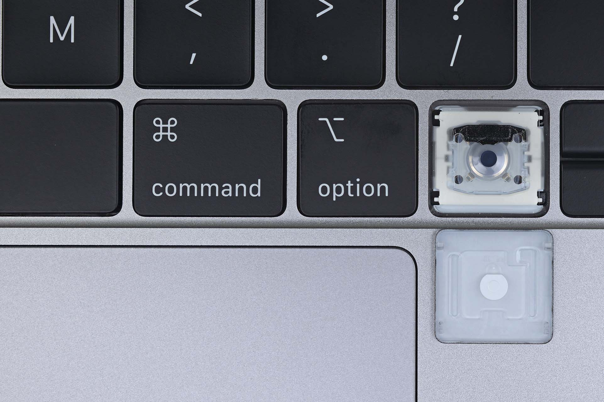 The butterfly keyboard switch in the 2019 MacBook Pro
