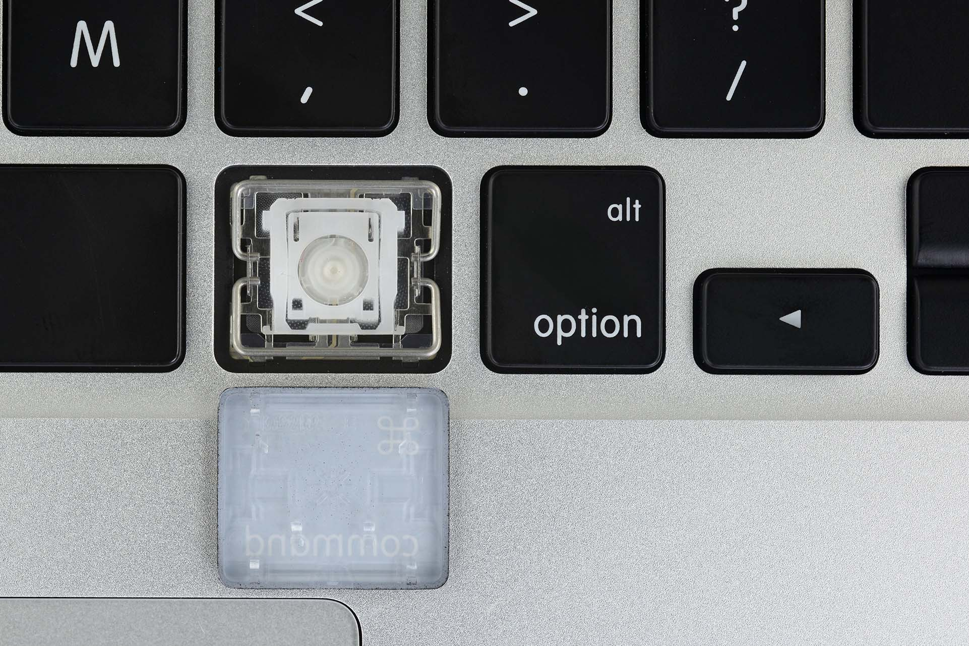 Scissor keyboard mechanism on the 2015 MacBook Pro