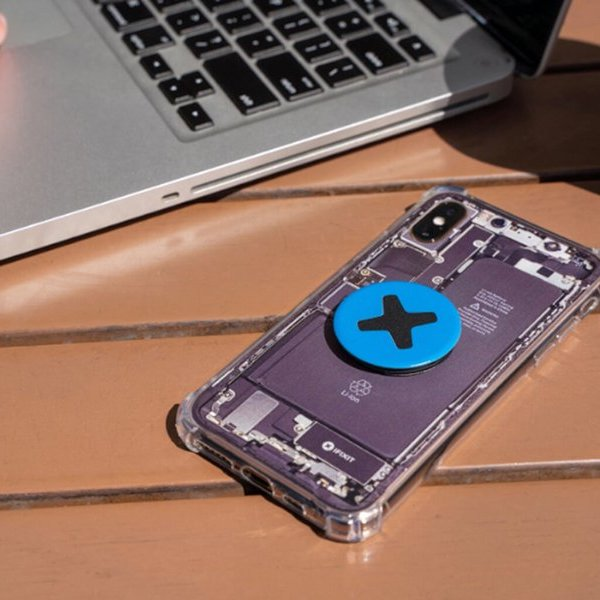iPhone with an Insight iPhone Case and iFixit PopSocket