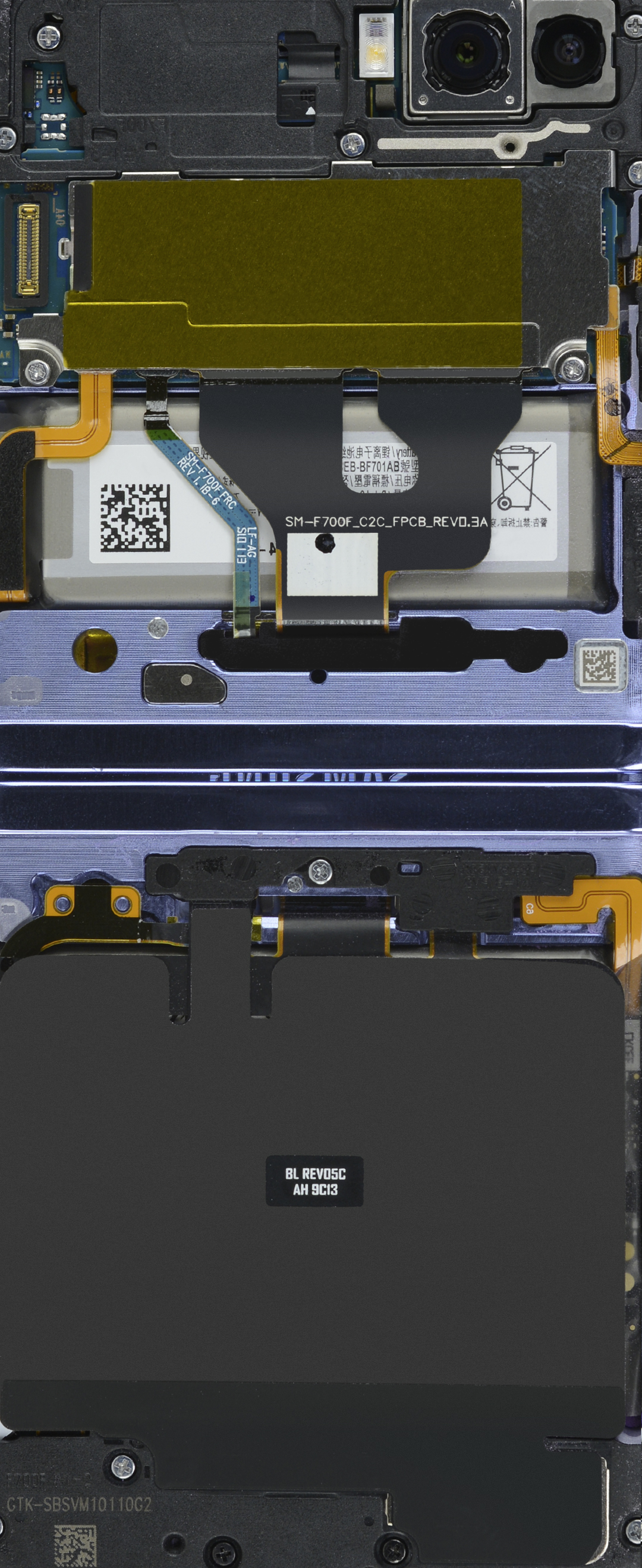 Samsung Galaxy Z Flip internals