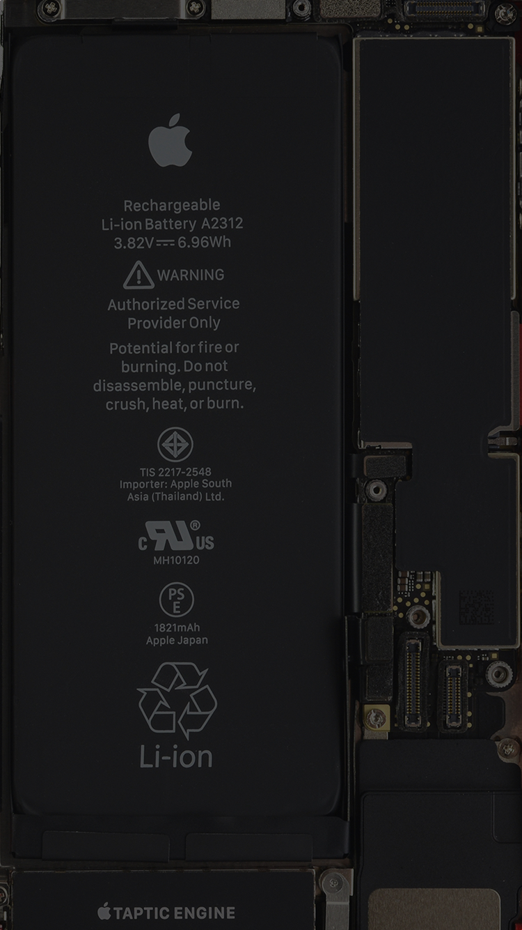 iPhone SE 2020 internal wallpaper, by iFixit