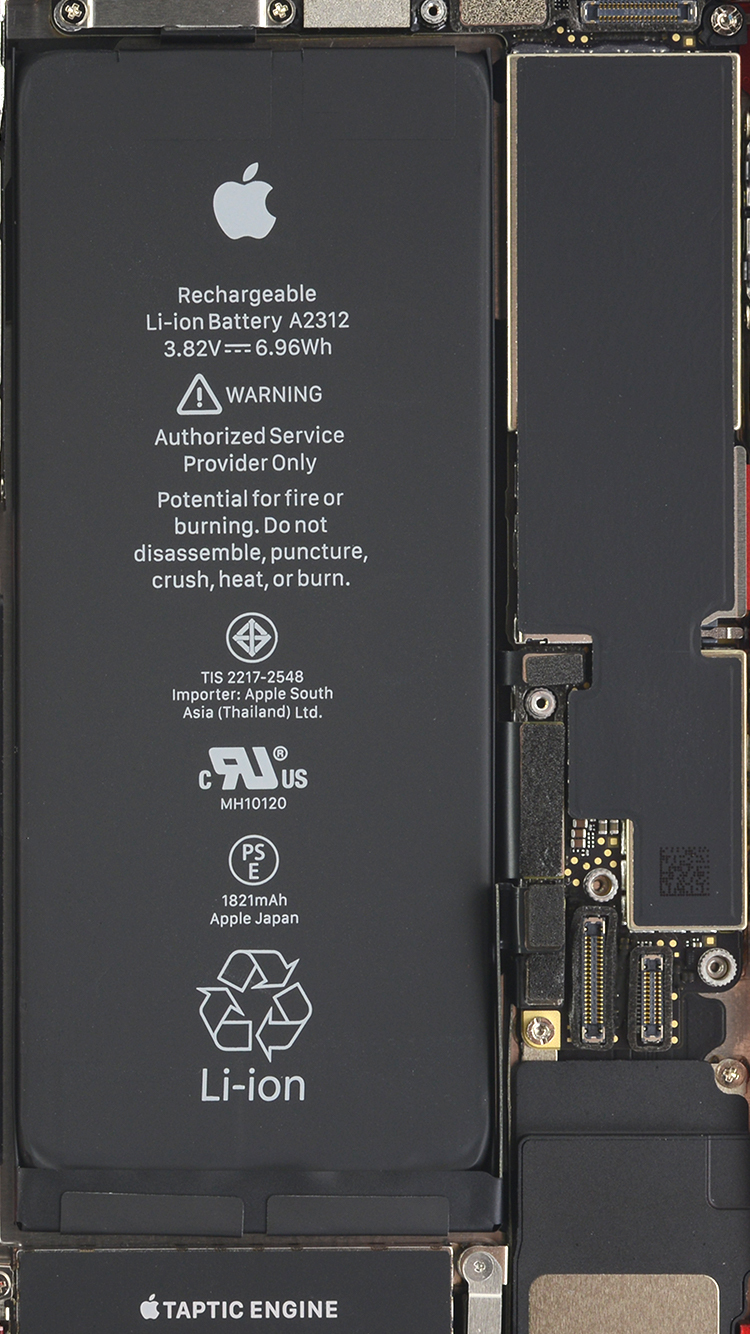 iPhone SE 2020 internal wallpaper by iFixit