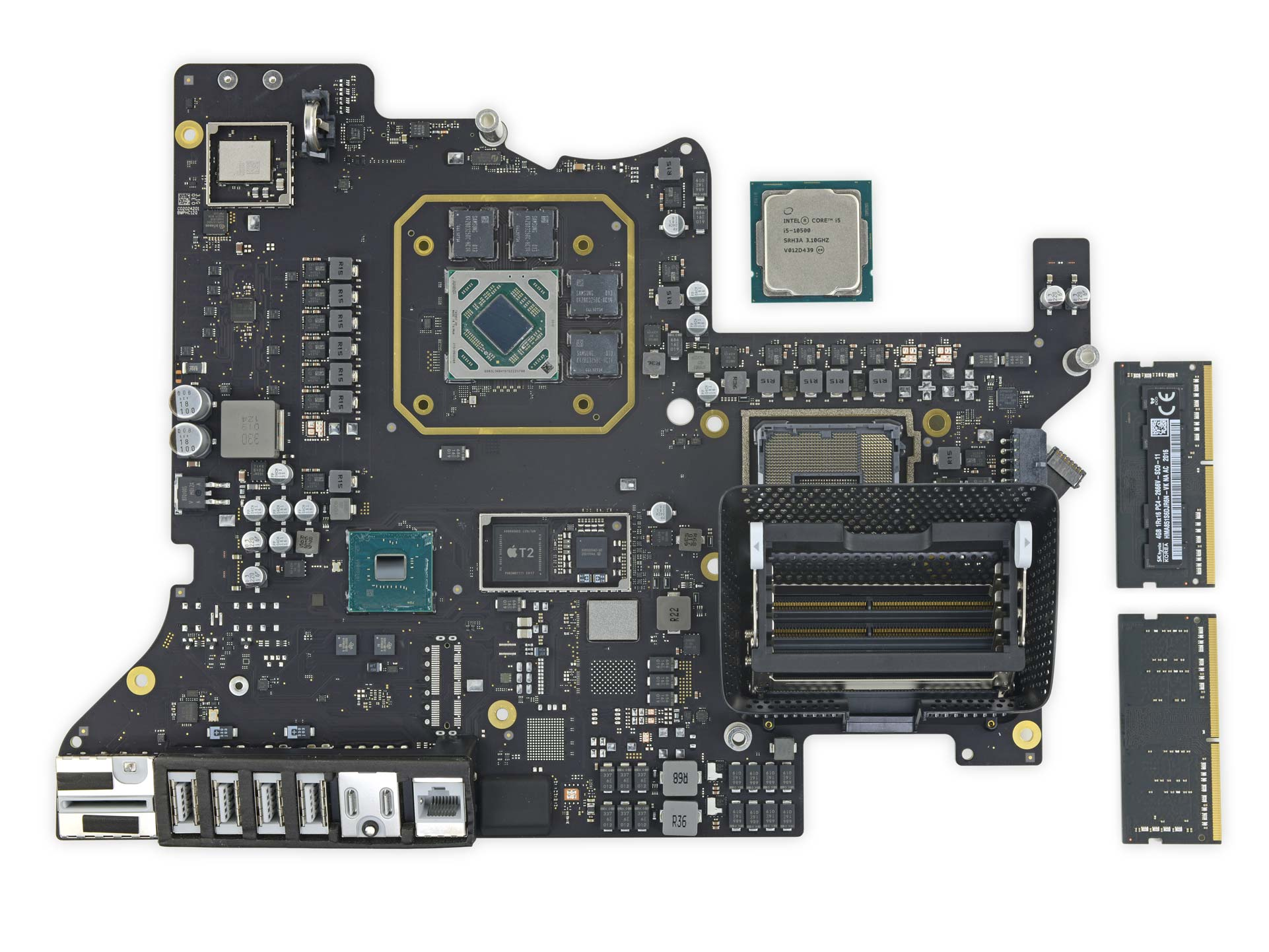 Logic board of the 2020 iMac 27""
