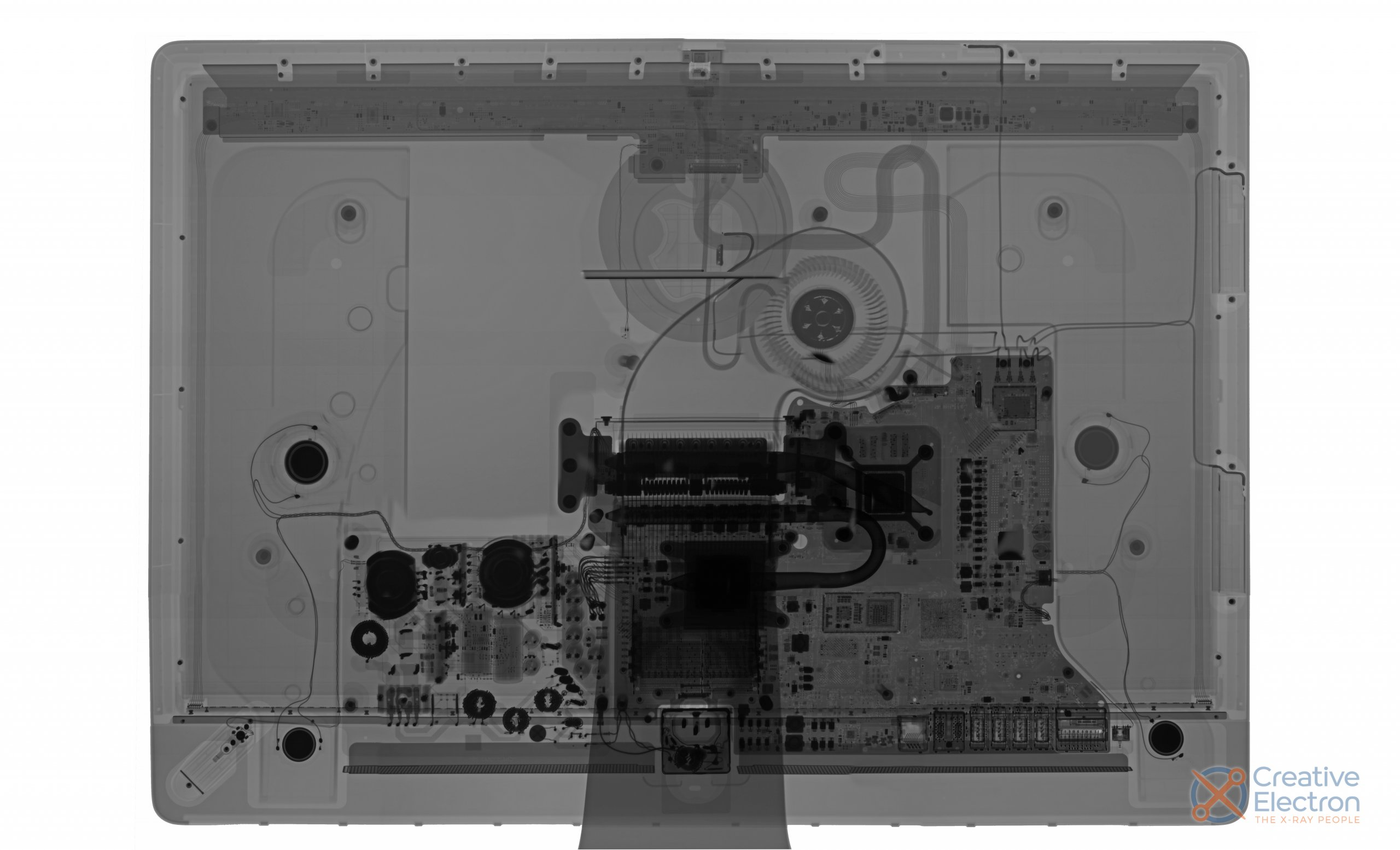 X-ray image of the 2020 iMac 27""