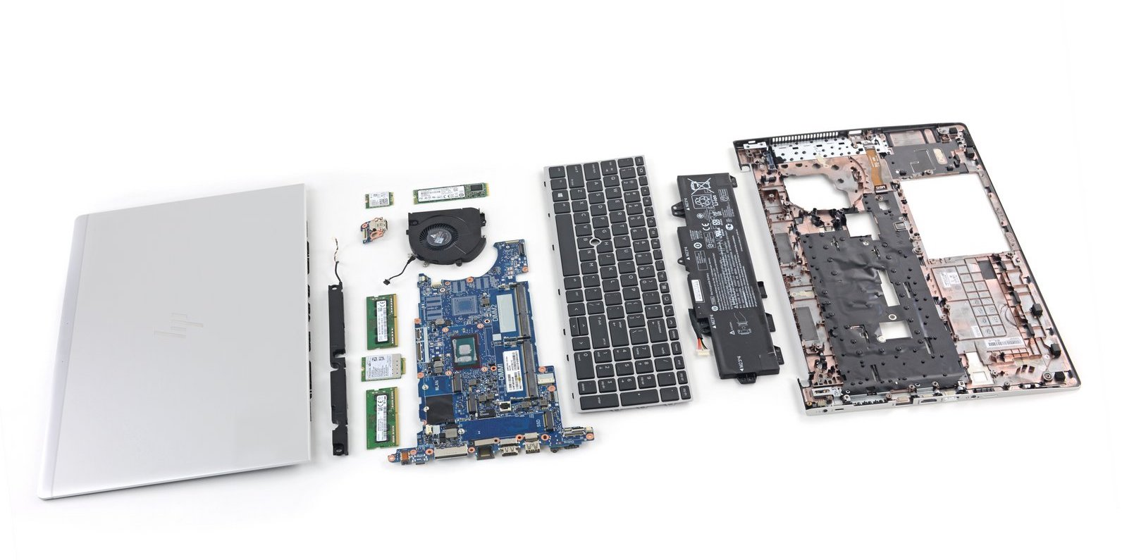 HP EliteBook disassembled