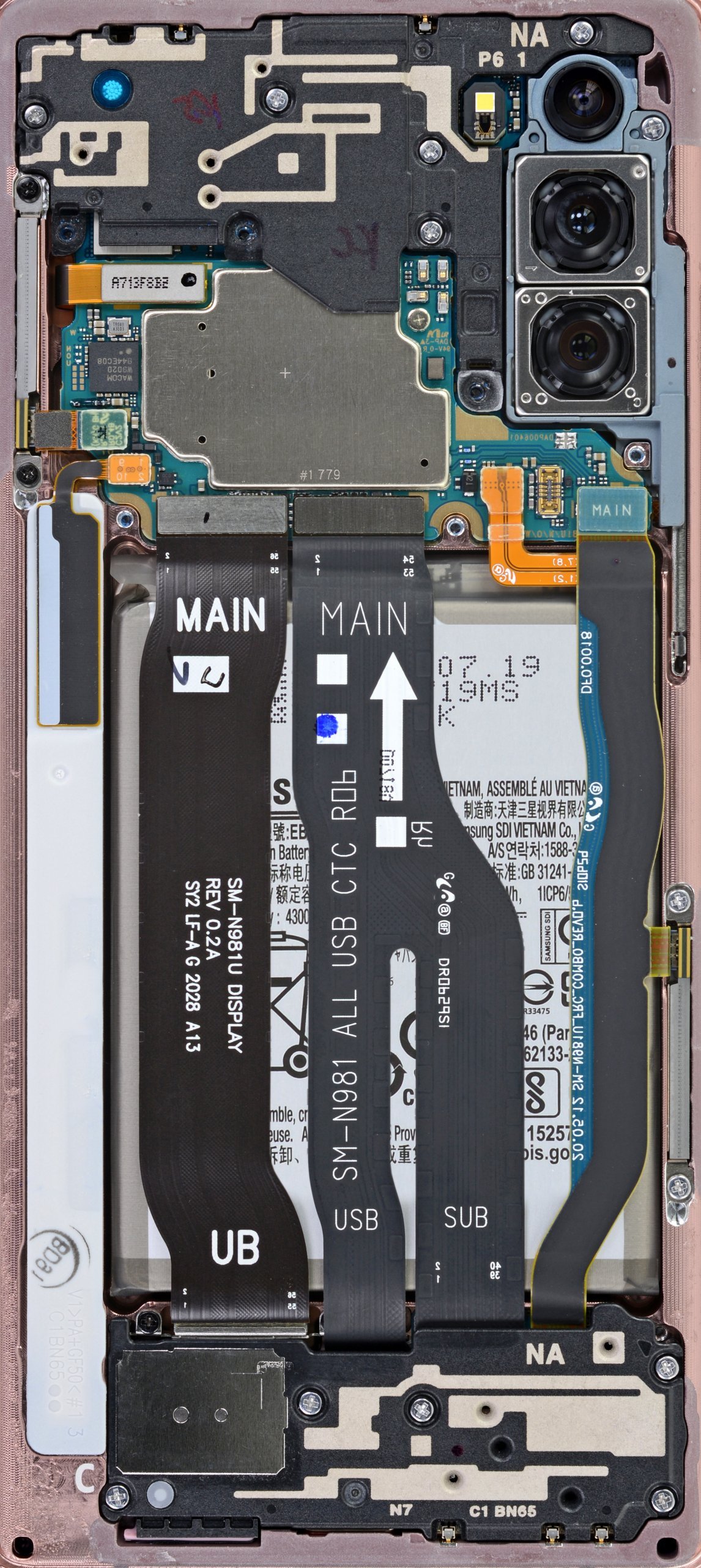 Samsung Galaxy Note 20 Internals