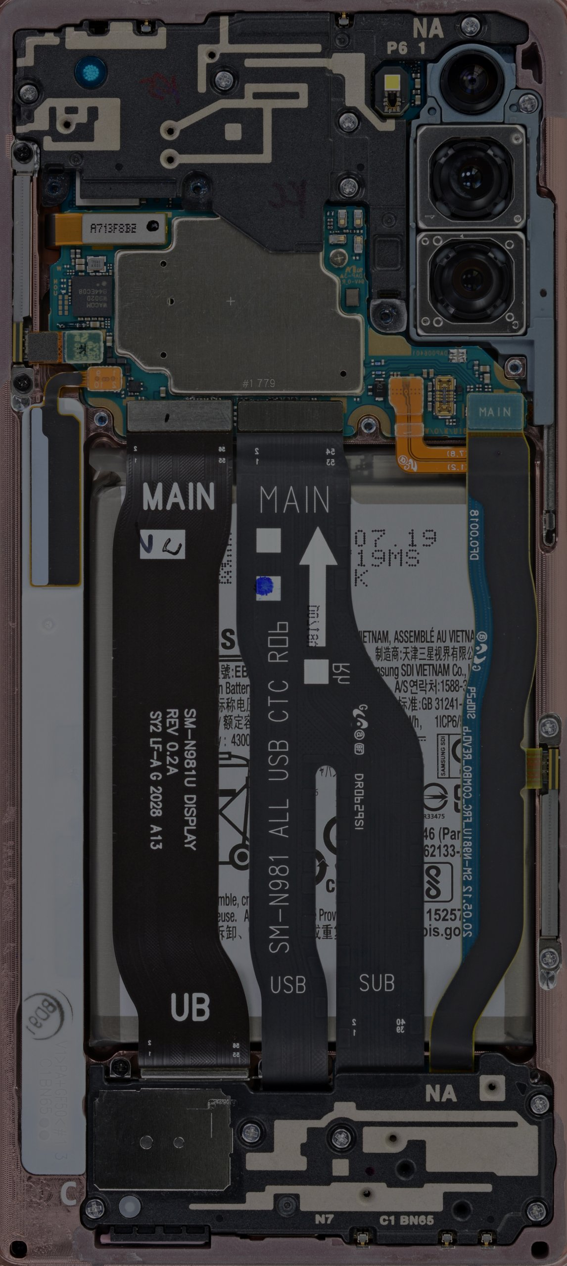 Galaxy Note 20 internals