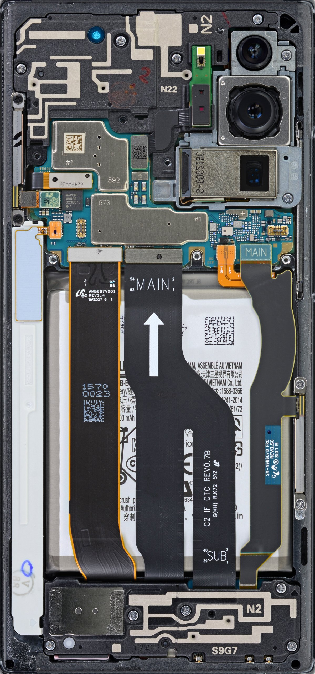 Galaxy Note 20 Ultra internals