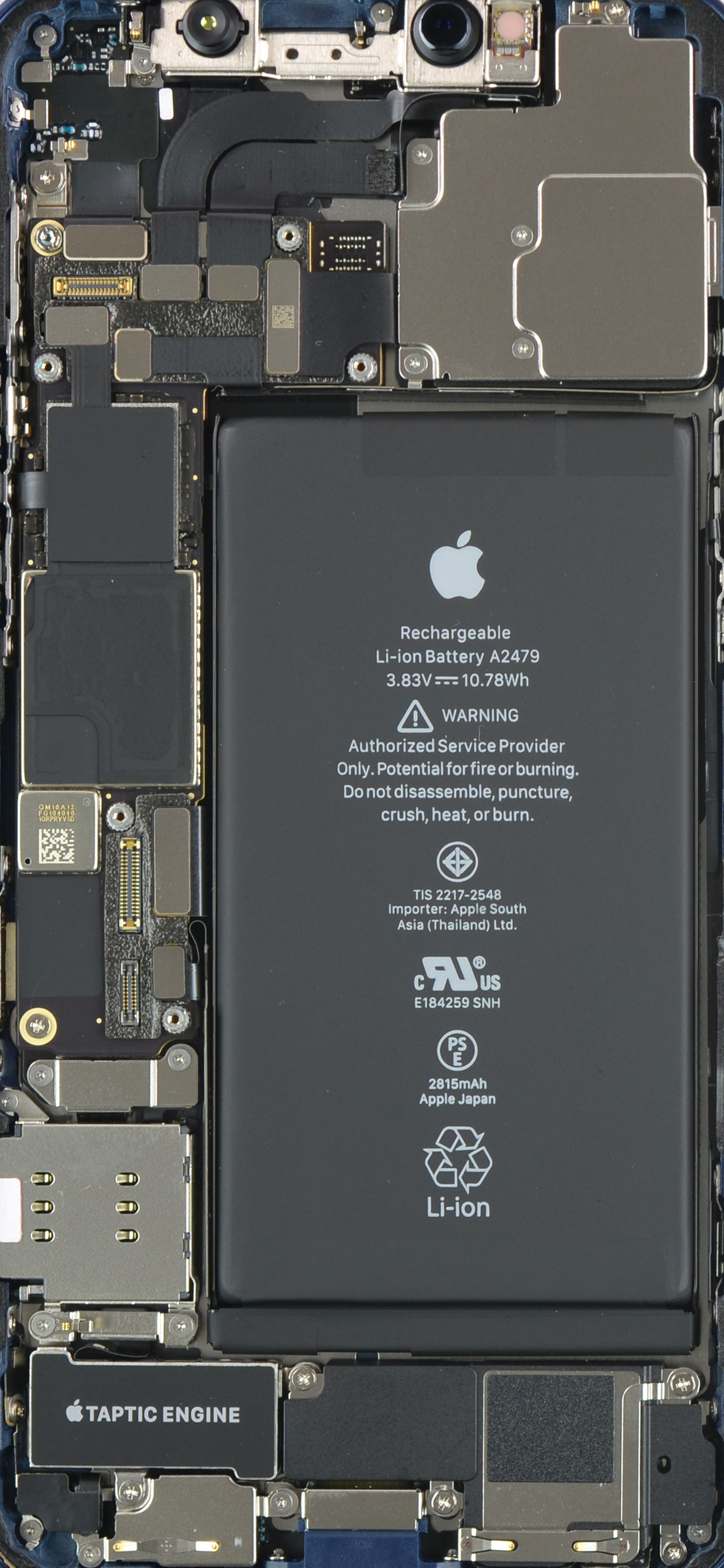 iPhone 12 internals wallpaper