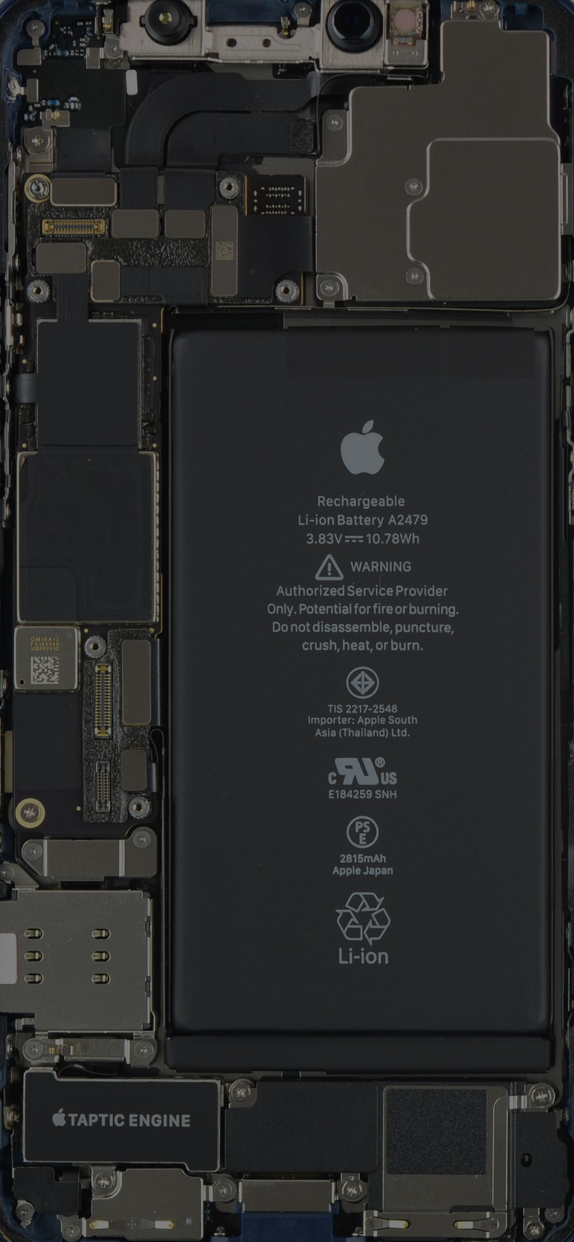 iPhone 12 internals wallpaper, slightly darker mode