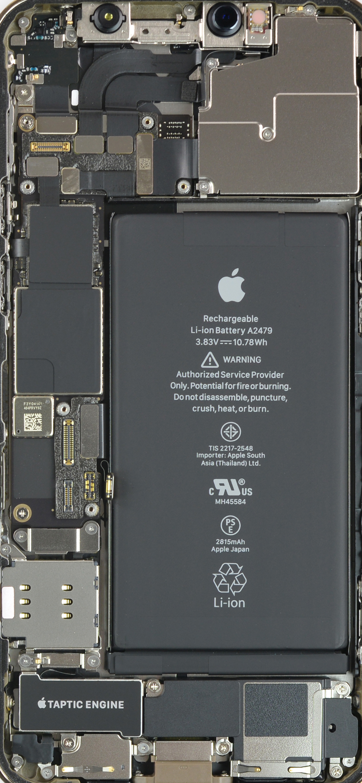 iPhone 12 Pro internals wallpaper