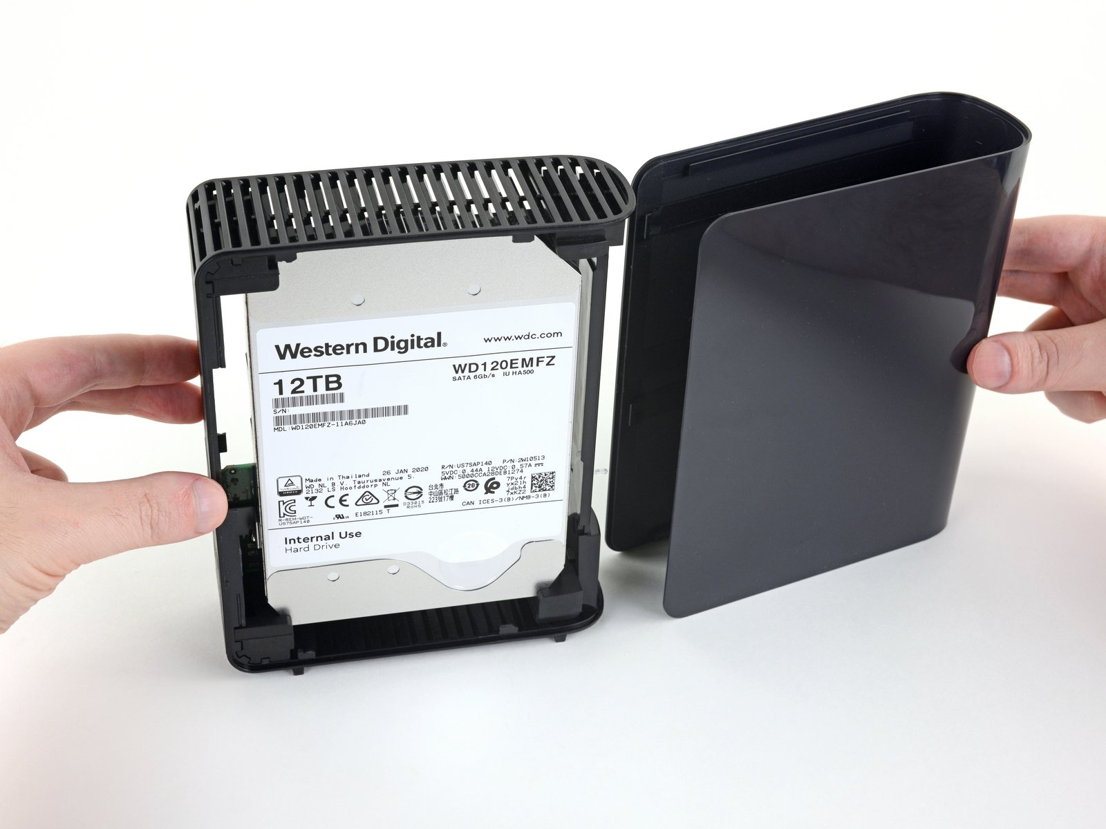 Removing an internal drive from an external enclosure