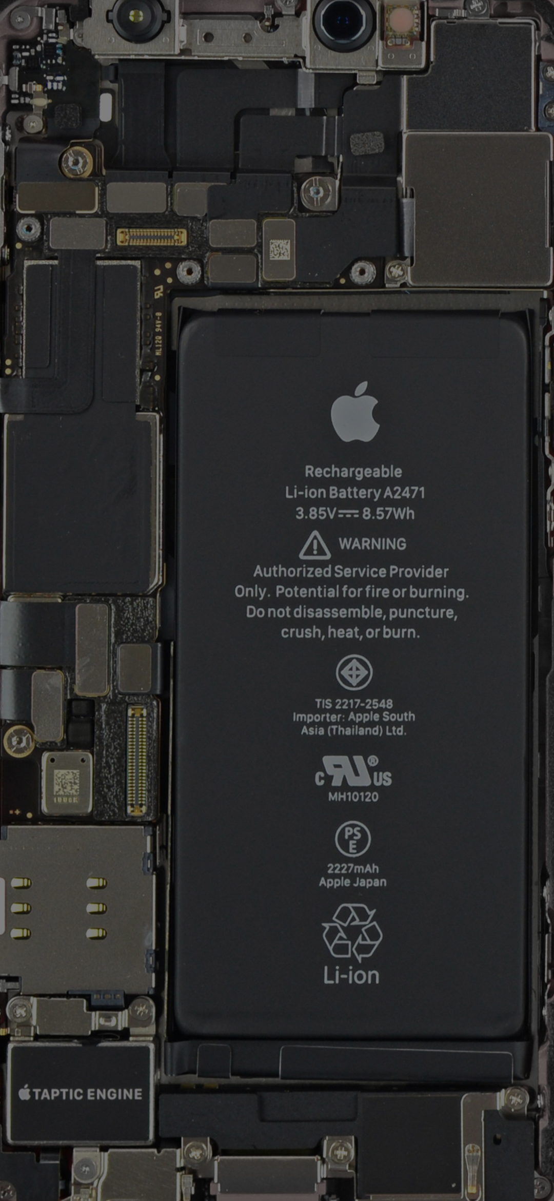 iPhone 12 mini internals wallpaper