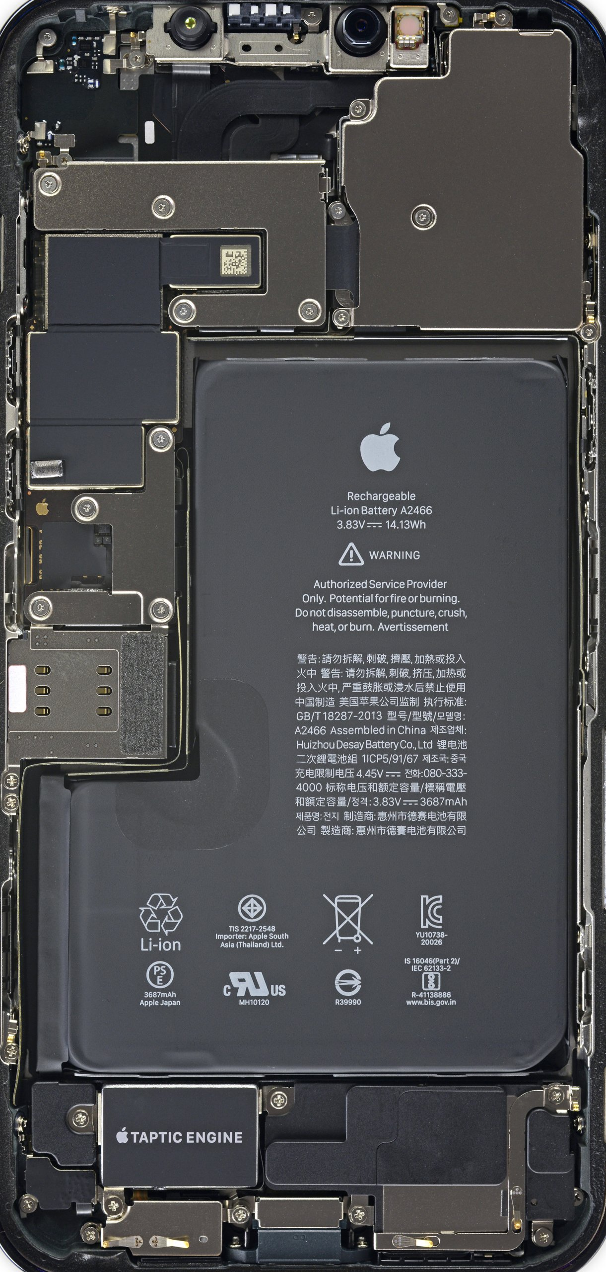 Internals of the iPhone 12 Pro Max