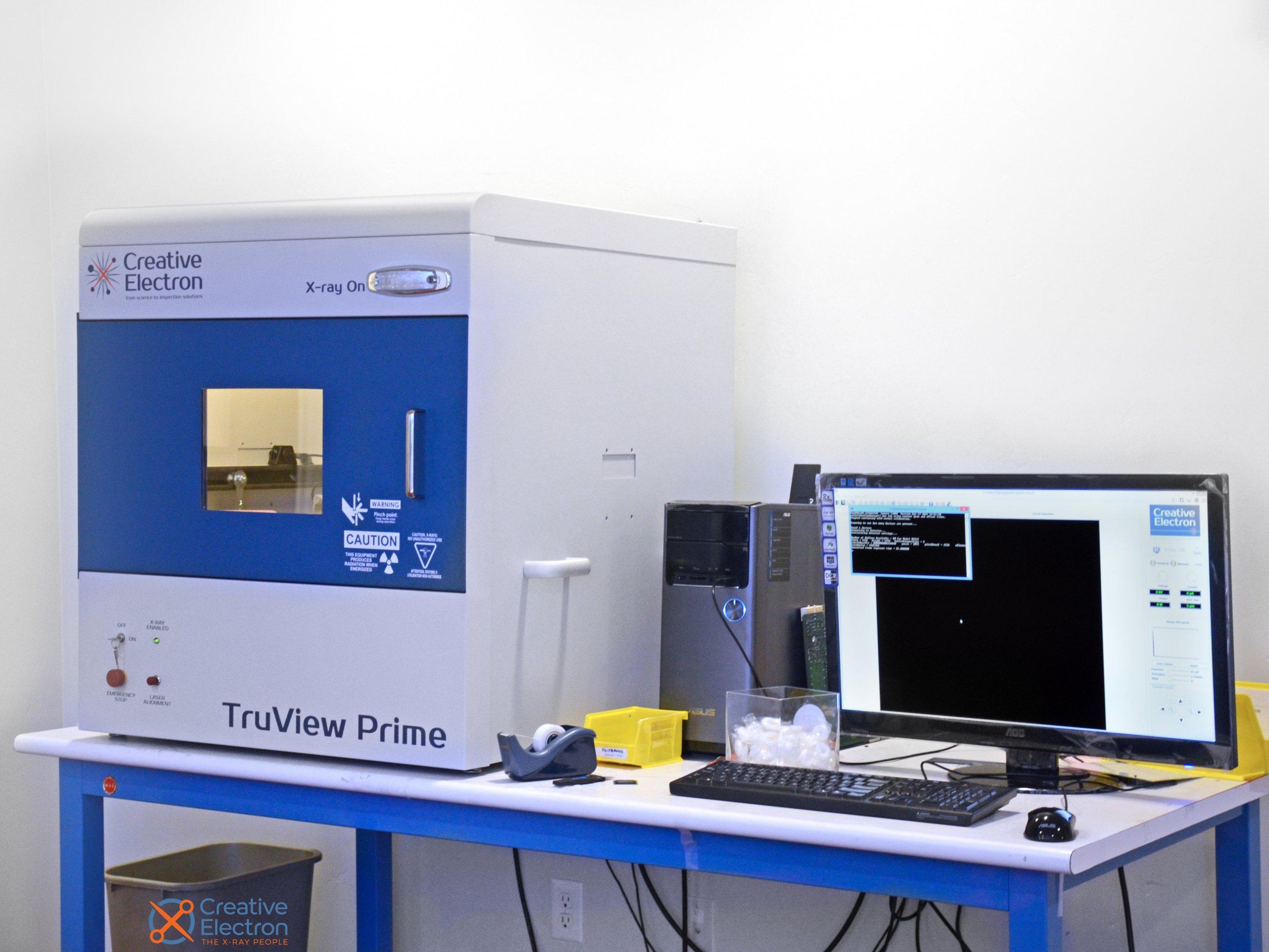 X-ray machines and monitors at Creative Electron.