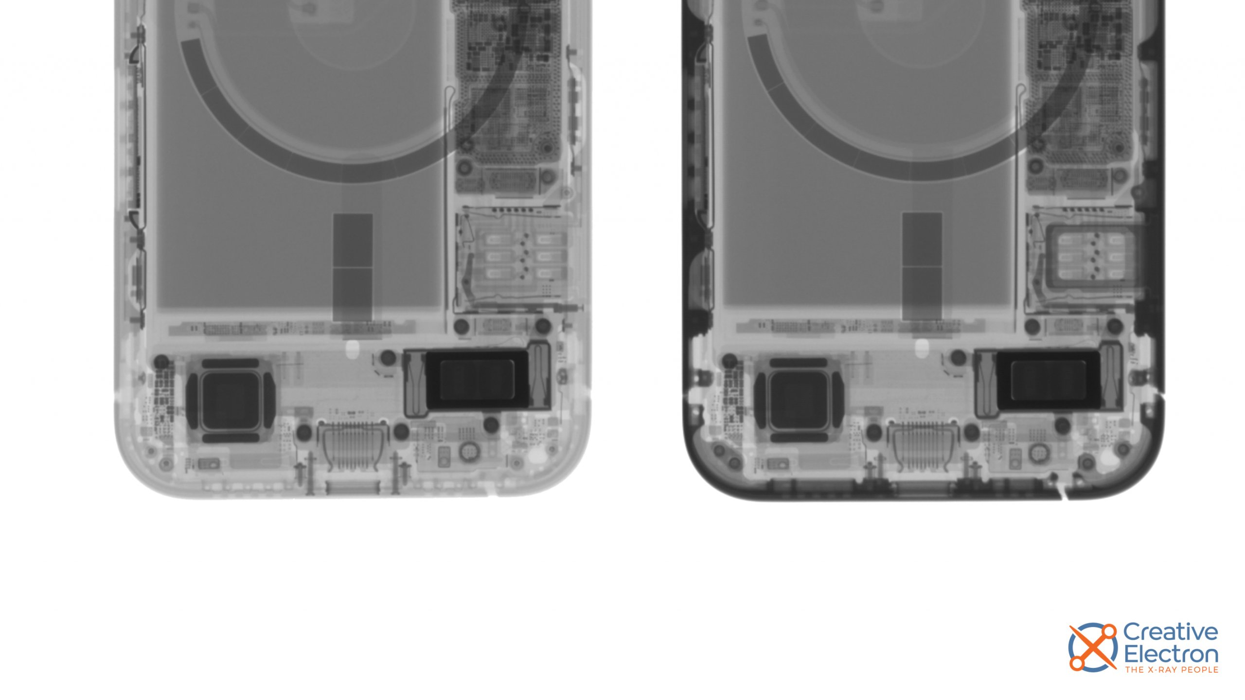 X-rays of iPhones, with the Taptic Engine in particular focus
