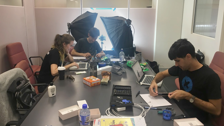 The teardown team hard at work in Australia.