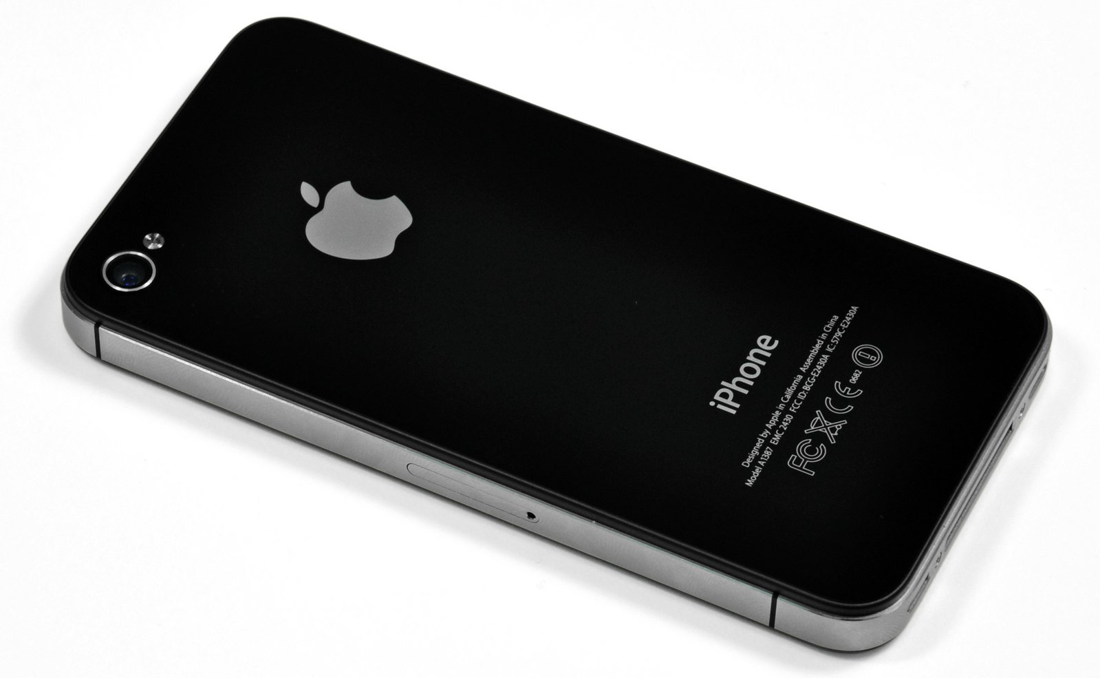 iPhone 4s, seen from the back.