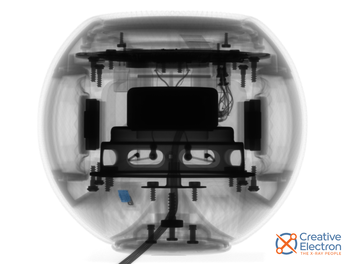 An X-ray scan showing the location of the HomePod Mini's hidden sensor
