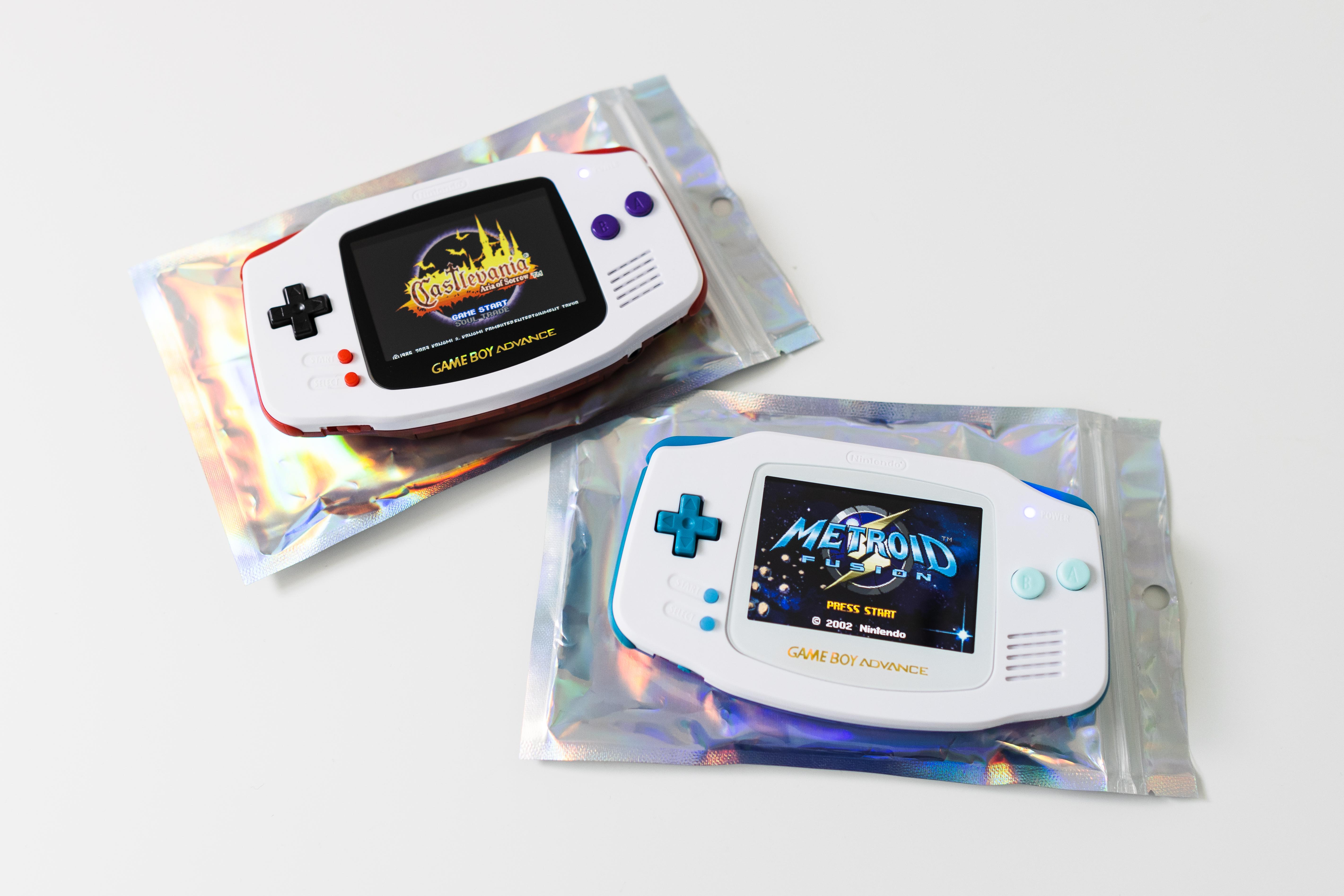 Color-modded Game Boy Advance models.