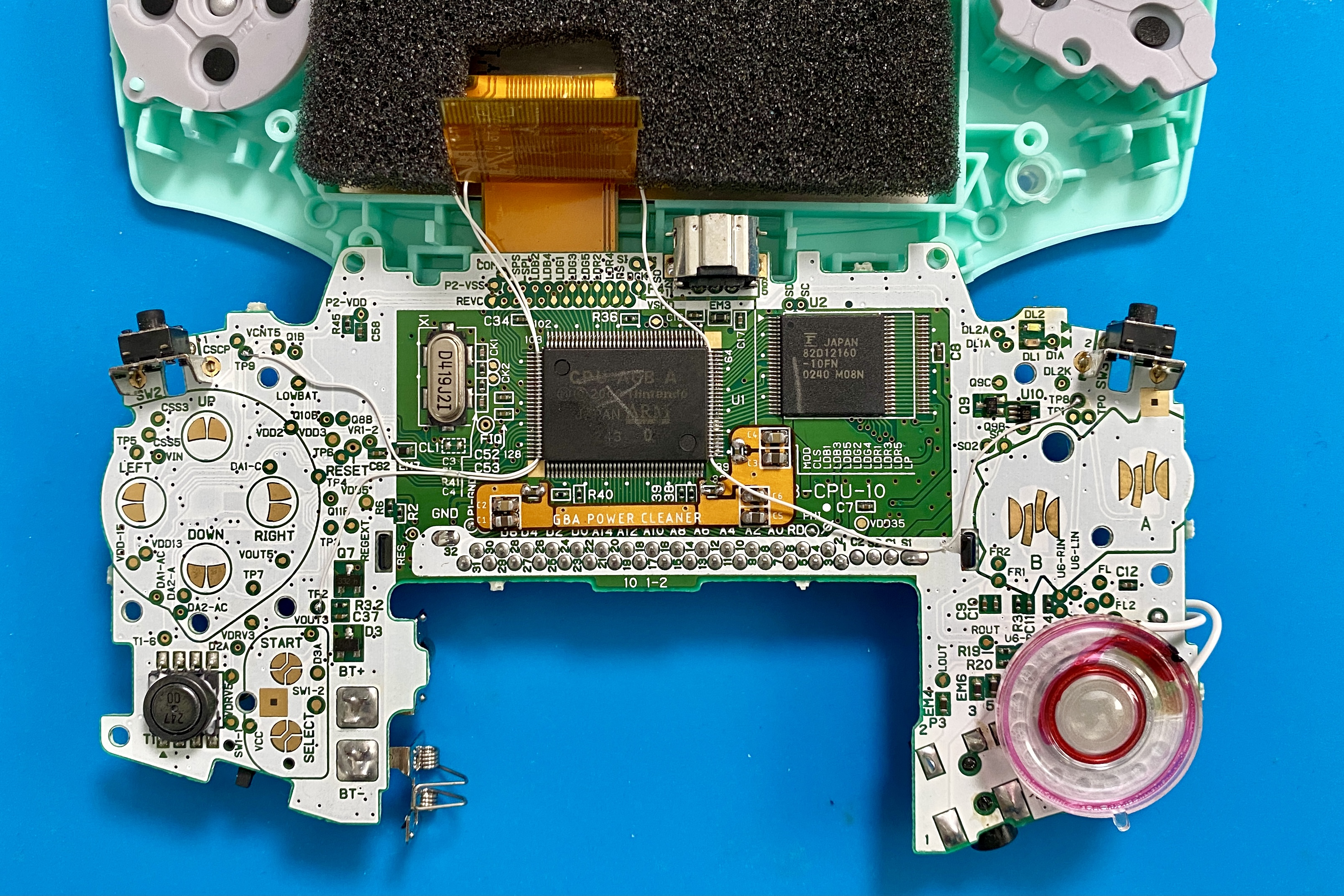Inner circuit board of a Game Boy Advance
