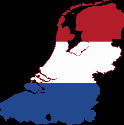 Flag map of the Dutch language