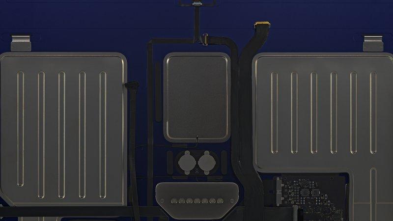 Fondo de pantalla interno de iMac oscurecido